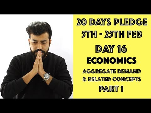 Day-16 - Aggregate Demand & Related Concepts - class12th #20dayspledge #commercebaba