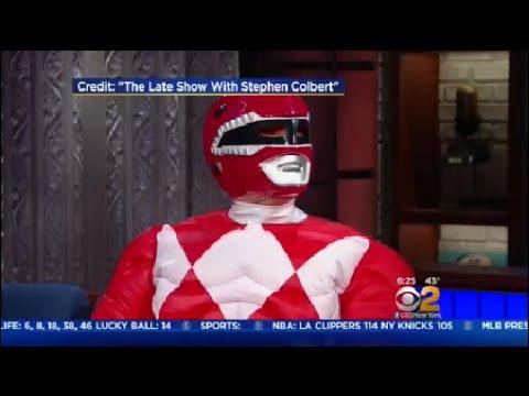 Bryan Cranston Dresses Up As Red Power Ranger
