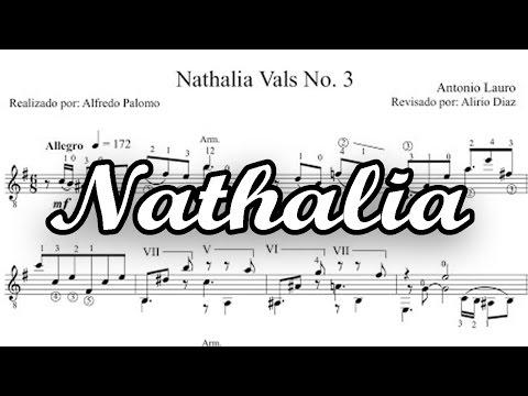 Partitura Nathalia de Antonio Lauro para Guitarra Clásica