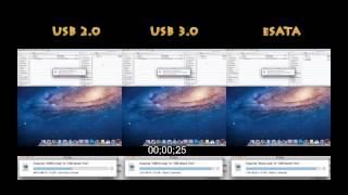 Hackintosh Lion 10.7.3 Hack Pro USB 2.0 vs USB 3.0 vs eSata