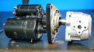Engine starter + Hydraulic pump = Something COOL