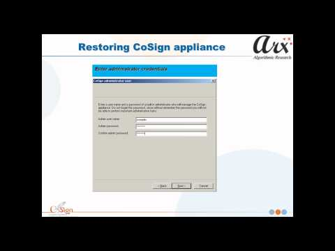 Training Demo: Administrating the Digital Signature CoSign Appliance