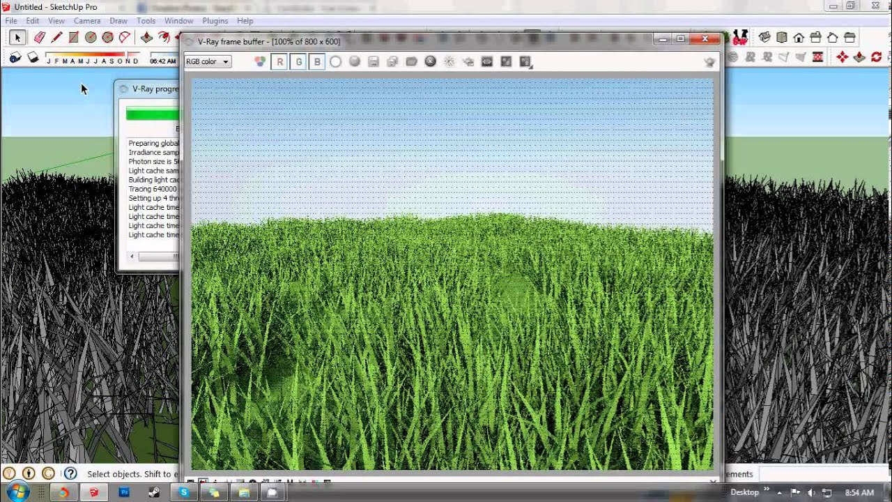 Sketchup Grass Tutorial - YouTube
