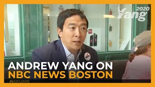 2020 Presidential Candidate Andrew Yang on NBC News Boston