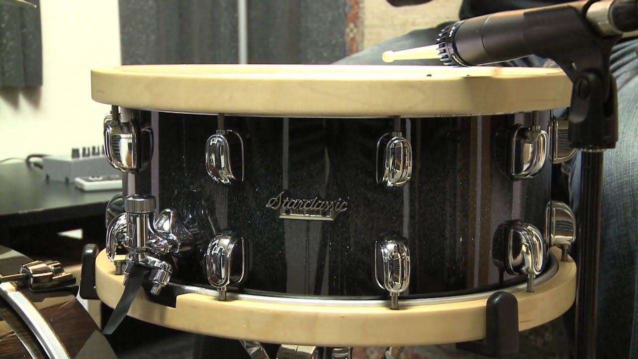tama starclassic bubinga snare drum with wood hoops demo youtube. Black Bedroom Furniture Sets. Home Design Ideas