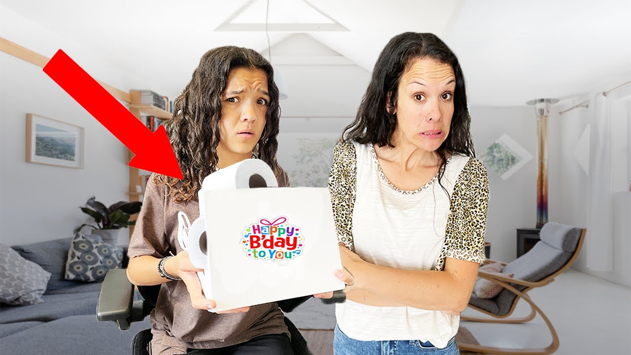 Teens 16th BIRTHDAY presents GONE WRONG! Giving her bad gifts!