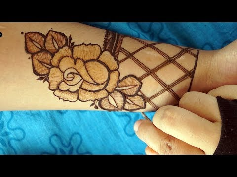 Most Attractive modern Rose henna mehendi Design | step by step way thumbnail