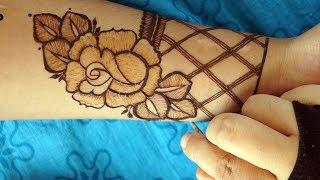 Most Attractive modern Rose henna mehendi Design | step by step way