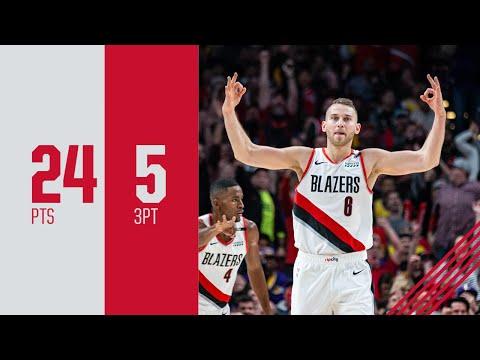 Nik Stauskas Career High 24 points Highlights vs. Los Angeles Lakers | October 18, 2018