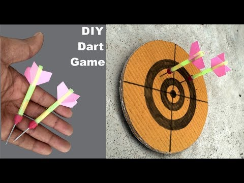 How To Make Darts And Dartboard At Home - Dart Board Life Hacks