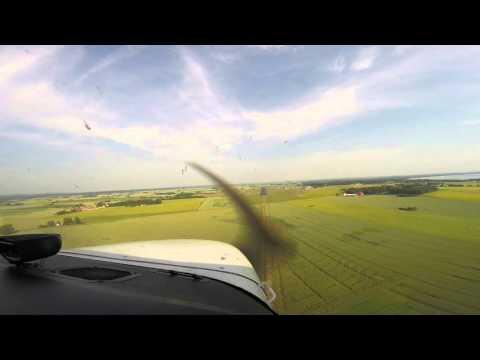 VFR flight from Barth (EDBH) to Ängelholm-Helsingborg (ESTA)