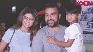 Shilpa Shetty Spotted With Her Husband Raj Kundra And Her Son Viaan In Mumbai