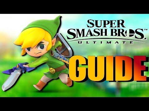 TOON LINK Super Smash Bros Ultimate Guide! [Smash Ultimate Toon Link Tutorial/Moveset]