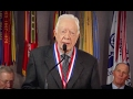 Jimmy Carter accepts Gerald R. Ford Medal for Distinguished Public Service