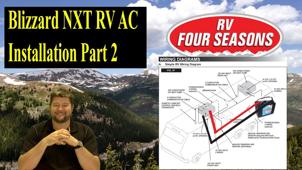 Dometic Blizzard Nxt Installation Part 2 Youtube Camper 120 Wiring Diagrams