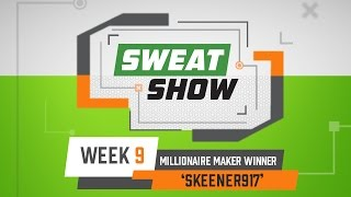 DraftKings Monday Night Sweat Show - Week 9