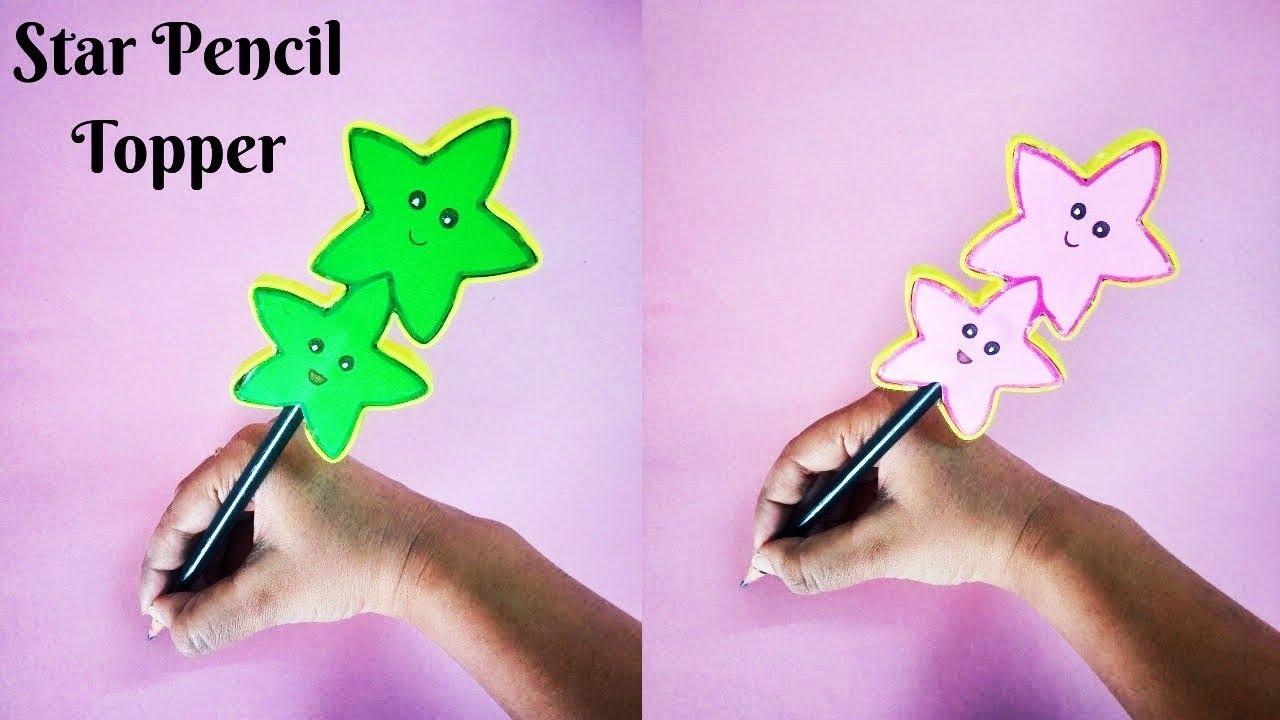 DIY Star Pencil Topper | DIY Pen Decor | Paper Pencil Toppers ??