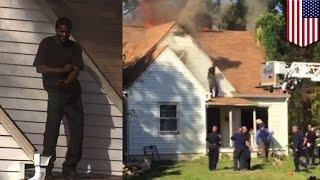 Парень поджёг дом своей бывшей и станцевал на крыше