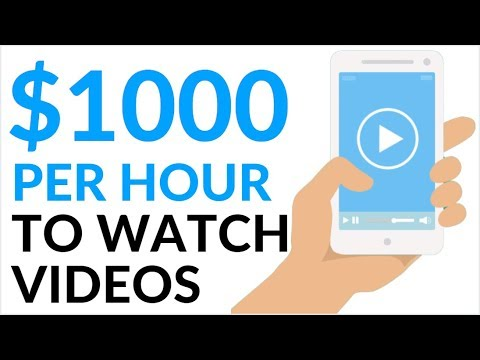 Earn $1000 in 1 Hour WATCHING VIDEOS! (Make Money Online 2020)