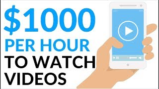 Earn $1000 in 1 Hour WATCHING VIDEOS! (Make Money Online 2020)