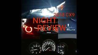 2018 Mazda Cx9 GT LED Lights INTERIOR and EXTERIOR NIGHT REVIEW