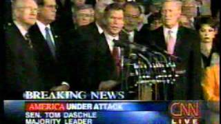 "9/11 News Coverage:  7:45 PM: Congress Sings ""God Bless America"""