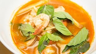 The Easiest Thai Tom Yum Goong Hot and Sour Soup Recipe 泰国酸辣汤