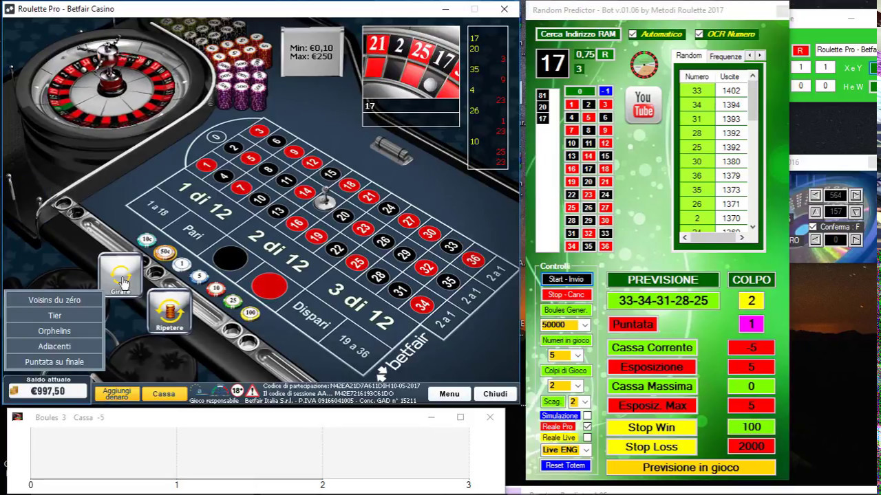 Software roulette random predictor bot 2019