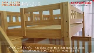 🍁 Giường tầng cho bé bibo mart giá rẻ đẹp gỗ tự nhiên tại Quận 6 HCM - giuong tang cho be bibo mart