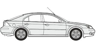 How to Draw a Ford Mondeo 5 / Как нарисовать Ford Mondeo 5