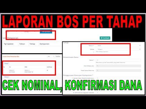 Perubahan Portal Bos 2020 Cara Laporan Bos Online Per Tahap Dan Cek Nominal Bos Youtube