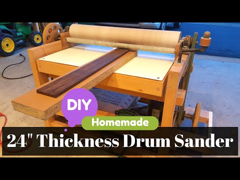 """❌ DIY Homemade 24"""" Thickness Drum Sander - Build and parts detail Overview"""