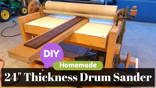 DIY overview of all the parts that went into building a thickness drum sander. PLEASE WATCH MY OTHER VIDEOS! Subscribe https