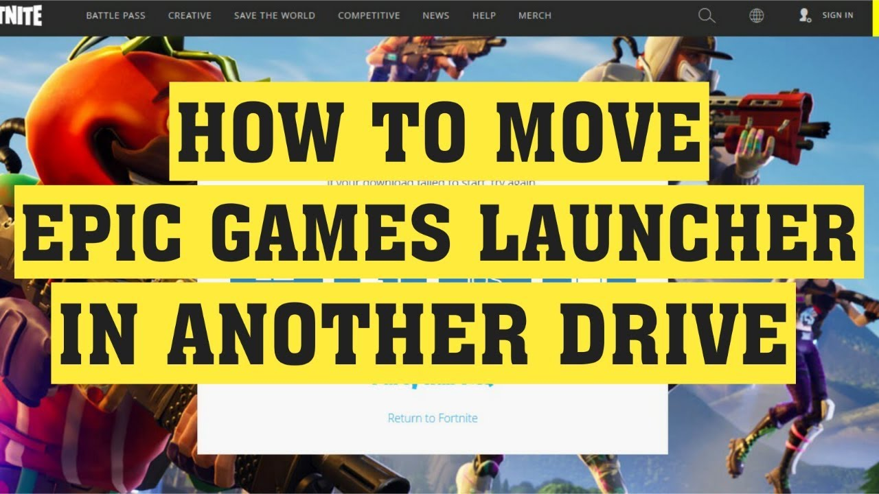 How To Move And Install Epic Games Launcher On Another ...