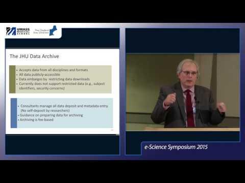 eScience 4: David S. Fearon, Johns Hopkins University