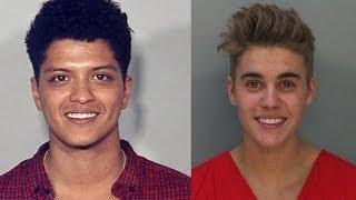 Smiling Celeb Mug Shots- Bieber, Bruno, Paris!