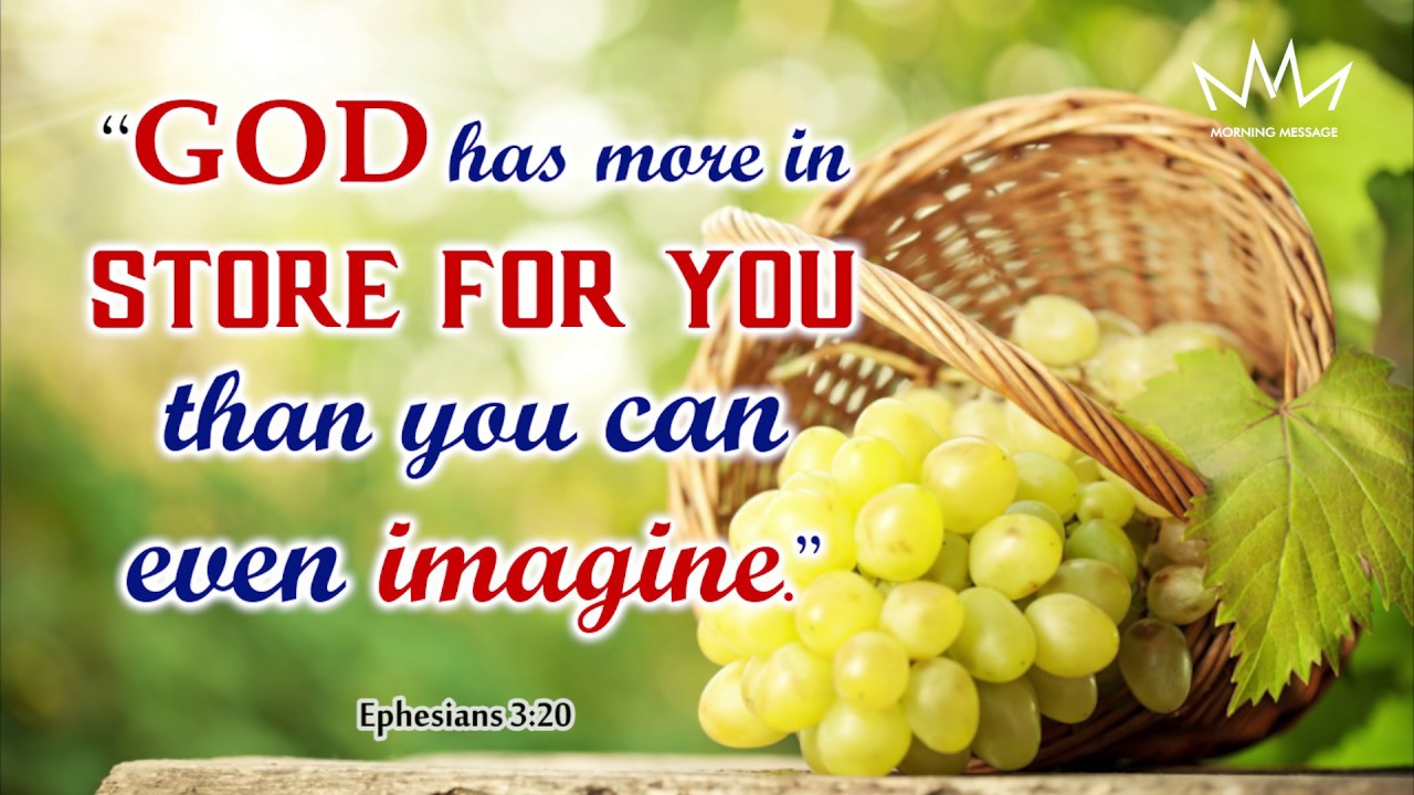 Morning Message Daily Bible Verse Youtube