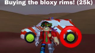 Buying the bloxy rims! Roblox Jailbreak