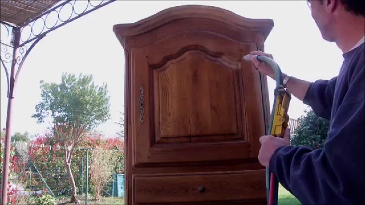 dcapage meuble en chene cir  YouTube