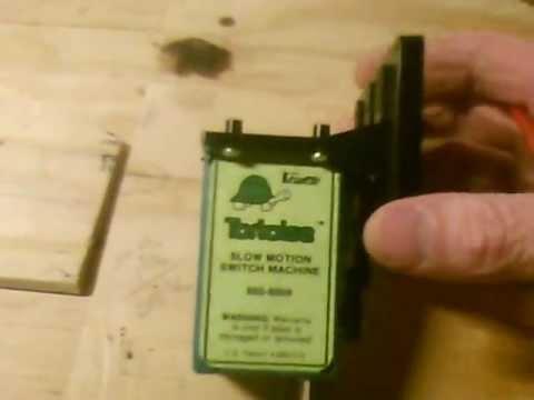 CIRCUITRON TORTOISE SWITCH MACHINE - YouTube