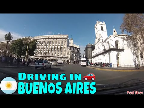 Driving in Buenos Aires (from Recoleta to San Telmo)