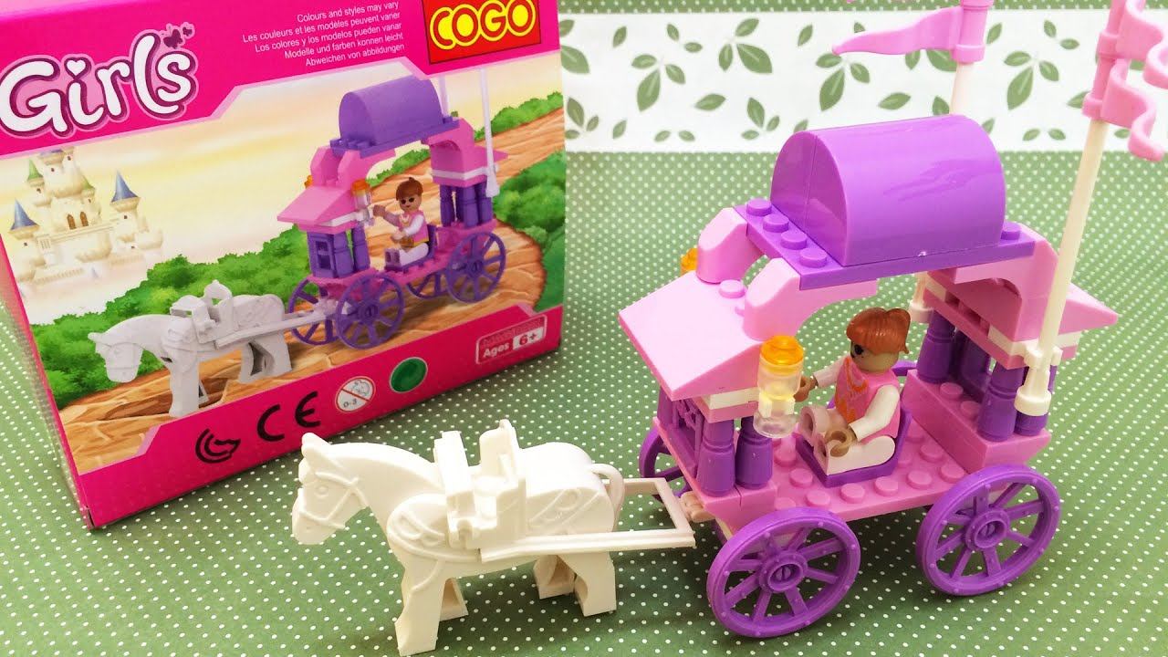 COGO Girls Blocks & Building Toys Pink