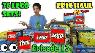 76 LEGO Sets Haul! Mystery Toy Box Opening Episode 13