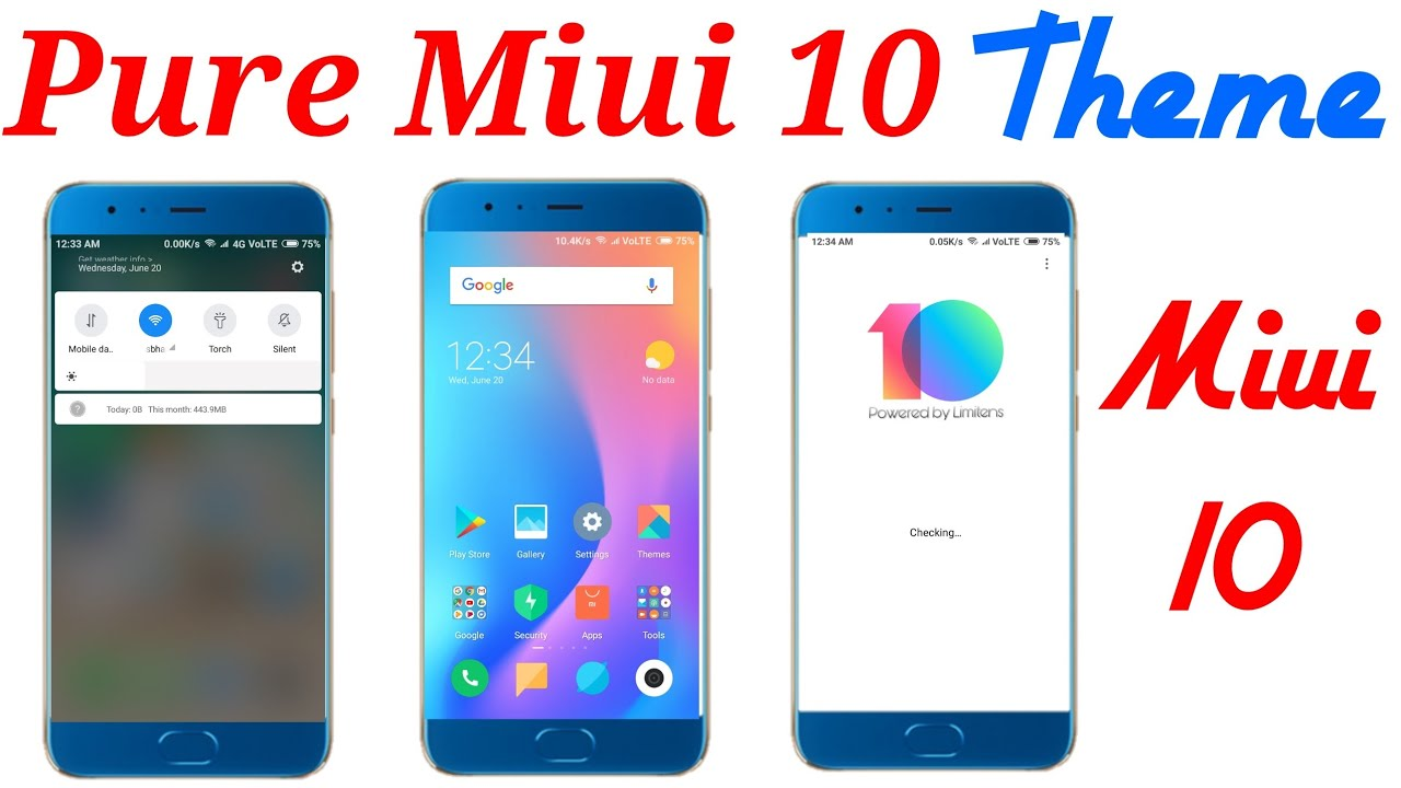 Pure Miui 10 Theme | Limitless Theme Miui 10 | Default Miui 10 Theme