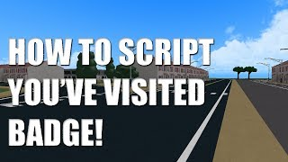 """How to make """"You've Visited!"""" Badge ROBLOX!"""