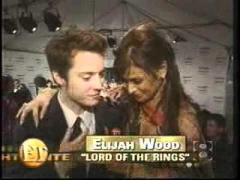 Elijah Wood and Paula Abdul (E!)