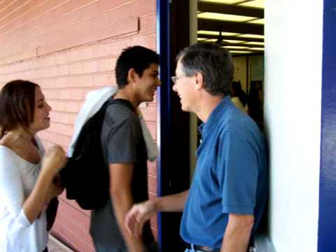 Greeting physics students at the door youtube greeting physics students at the door m4hsunfo