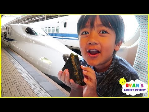 Ryan's first time riding Japan Bullet Train!!!
