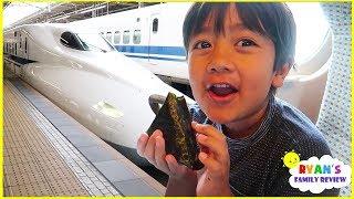 Ryan's first time riḋing Japan Bullet Train!!!