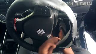 How to stitch a leather steering wheel cover for a car.